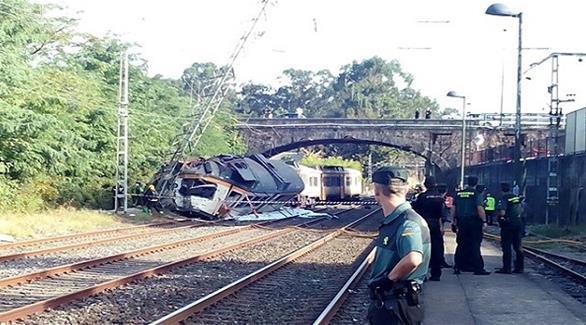 اخبار الامارات العاجلة 0201609090113525 قتيلان على الأقل في خروج قطار عن سكته في إسبانيا أخبار عربية و عالمية