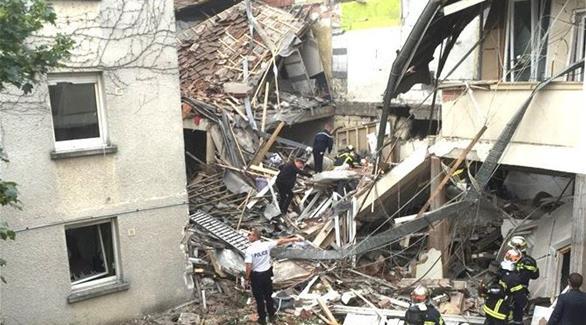 فرنسا: انهيار مبنى وإصابة 8 أشخاص في حادث تسرب للغاز