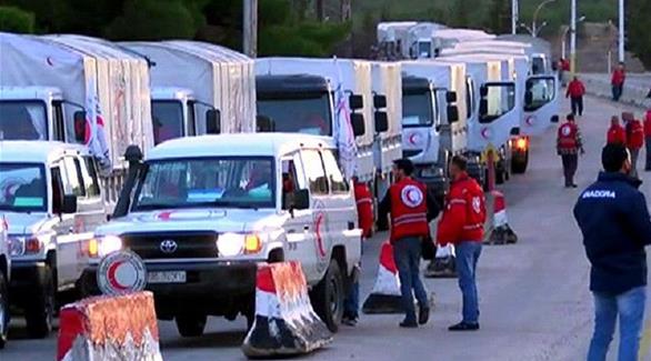 اخبار الامارات العاجلة 0201609200145706 إصابة 18 شاحنة مساعدات إنسانية بريف حلب بغارات النظام وروسيا أخبار عربية و عالمية