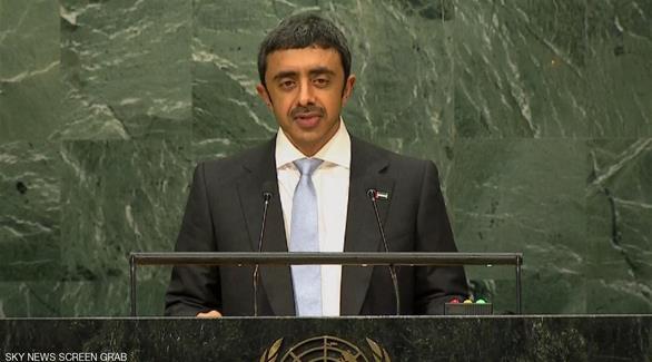 عبدالله بن زايد: إيران تقوض أمن المنطقة