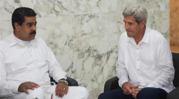 كيري يلتقي الرئيس الفنزويلي في كولومبيا
