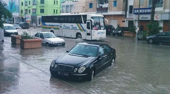 تونس تواجه فيضانات غزيرة في عدد من المدن
