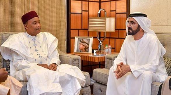 اخبار الامارات العاجلة 0201610060746256 محمد بن راشد يستقبل رئيس النيجر اخبار الامارات  الامارات