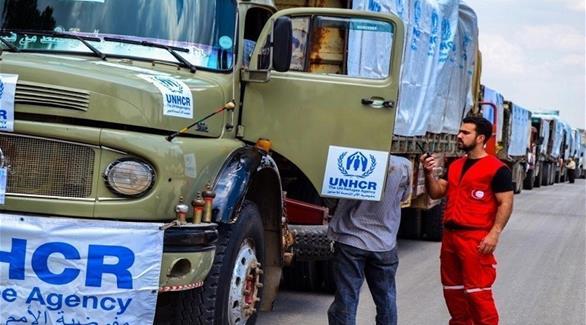 دخول قافلة مساعدات تابعة للأمم المتحدة إلى دوما السورية