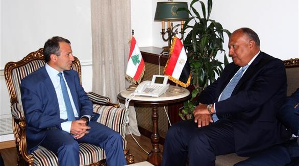 باسيل وشكري يبحثان العلاقات الثنائية بين لبنان ومصر