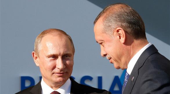 أردوغان وبوتين يتفقان على ضرورة وقف إطلاق النار بحلب