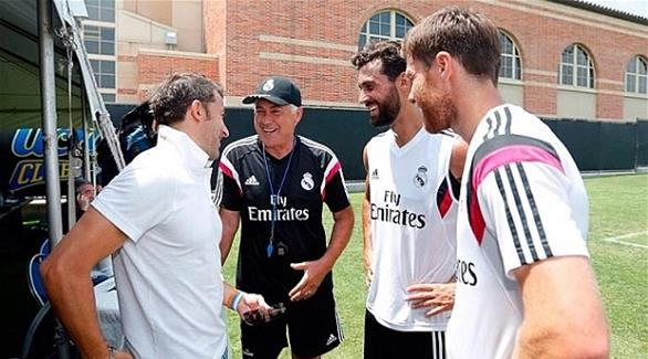 بالصور الأسطورة دل بييرو يزور تدريبات ريال مدريد