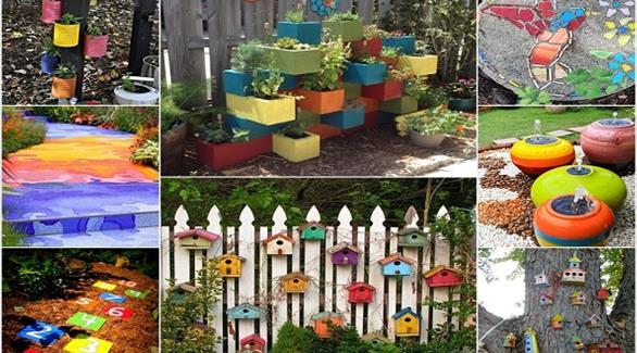 4d3c508e7 بالصور: 15 فكرة لإضافة الألوان الزاهية إلى ديكور الحديقة المنزلية