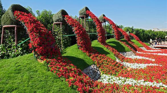 دايلي ميل تنشر تقريراً عن أكبر حديقة زهور في العالم بدبي
