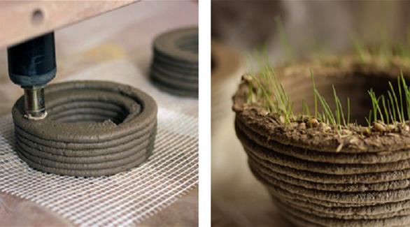 بالصور: طابعة ثلاثية الأبعاد تنتج عشباً قابلاً للنمو