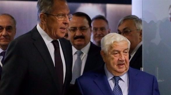 وزير الخارجية السوري وليد المعلم ولافروف (إ ب أ)