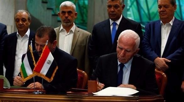 فتح وحماس توقعان اتفاق المصالحة.. والتطبيق بداية ديسمبر