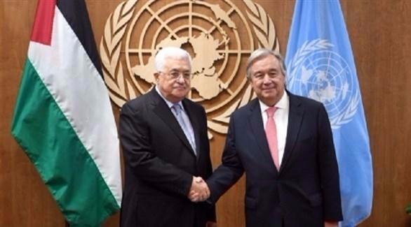 غوتيريس يهنئ الرئيس الفلسطيني على المصالحة