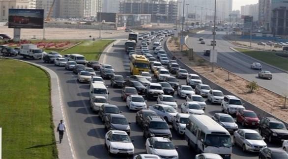 ازدحام مروري في شوارع دبي (أرشيف)