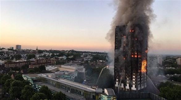 جانب من حريق برج لندن (أرشيف)