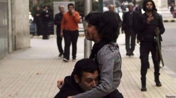 لحظة مقتل الناشطة شيماء الصباغ (أرشيف)