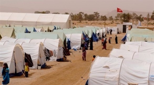 مخيم الشوشة في جنوب تونس (أرشيف)