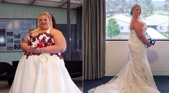 خسرت أمبر هارت 110 كيلو من وزنها خلال 3 سنوات (ميرور)