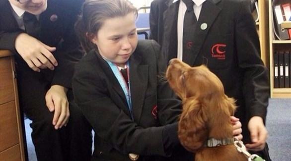 الكلبة شولا بين التلاميذ (ميرور)