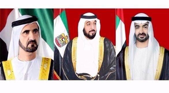 رئيس الدولة ونائبه ومحمد بن زايد (أرشيف)