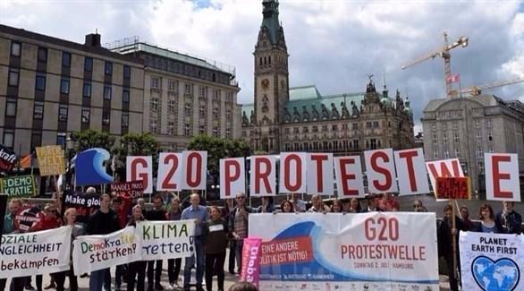 مظاهرات يسارية متطرفة قبل قمة العشرين بهامبورغ (أرشيف)