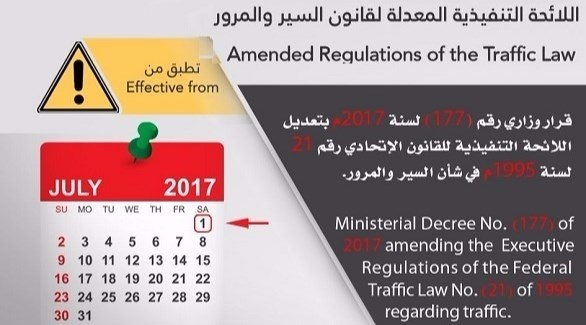 بدء تطبيق اللائحة التنفيذية لقانون السير والمرور الاتحادي (أرشيف)