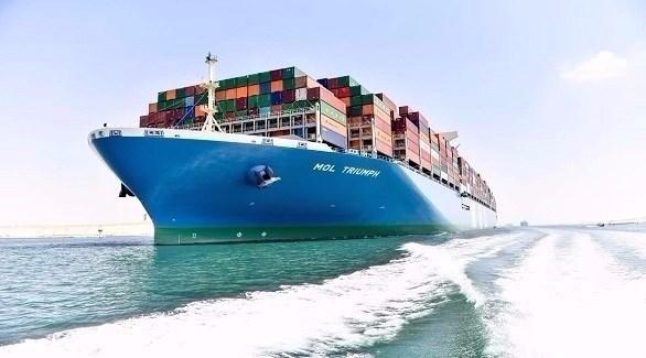 سفينة حاويات تعبر قناة السويس (أرشيف)