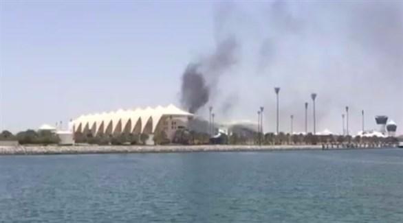 حريق في فندق ياس فيسروي (أرشيف)