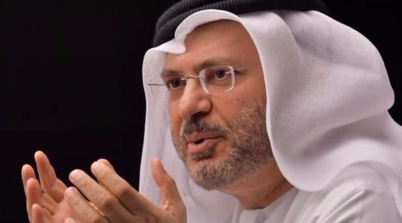 وزير الدولة الإماراتي للشؤون الخارجية الدكتور أنور قرقاش (أرشيف)