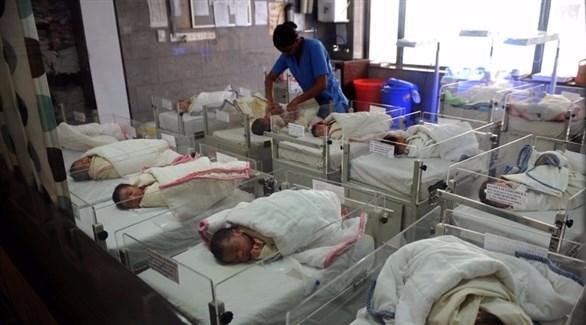 أطفال في إحدى مستشفيات الهند (أرشيف)