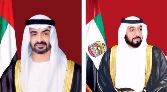 الشيخ خليفة بن زايد آل نهيان والشيخ محمد بن زايد آل نهيان (أرشيف)