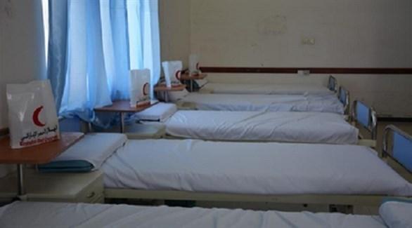 أحدى المستشفيات المدعومة من الهلال الأحمر الإماراتي في تعز (نيوزيمن)