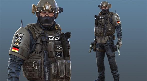 شرطي ألماني من وحدة جي إس جي 9 الخاصة (أرشيف)