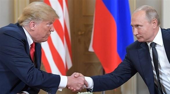 الرئيسان الأمريكي دونالد ترامب والروسي فلاديمير بوتين في هلسنكي (إ ب أ)