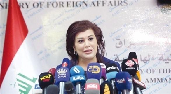 السفيرة العراقية في الأردن صفية السهيل (أرشيف)