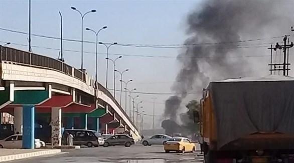 تصاعد الدخان بعد تفجير سابق في تكريت (أرشيف)