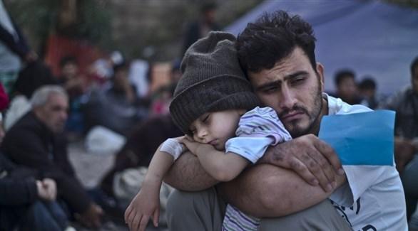 لاجئون في أحد المخيمات المؤقتة (أرشيف)