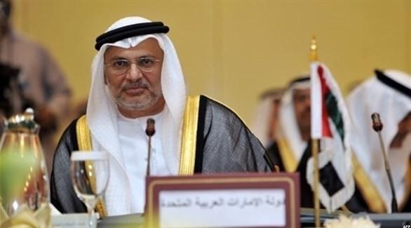 وزير الدولة للشؤون الخارجية الإماراتية، الدكتور أنور محمد قرقاش (أرشيف)
