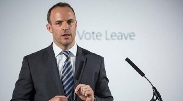 الوزير البريطاني لشؤون الانسحاب من الاتحاد الأوروبي، دومينيك راب (أرشيف)