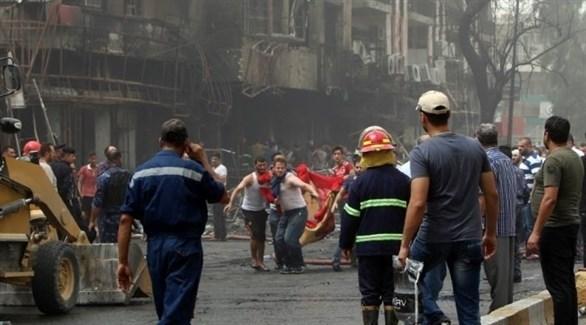 انفجار عبوة ناسفة في سوق الميت غرب بغداد (أرشيف)