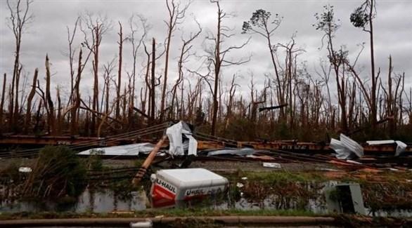 آثار  الإعصار مايكل بعد مروره بفلوريدا (أرشيف)
