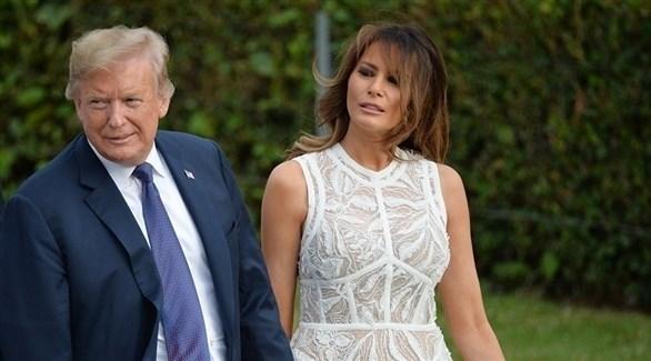 الرئيس الأمريكي دونالد ترامب وزوجته ميلانيا (أرشيف)