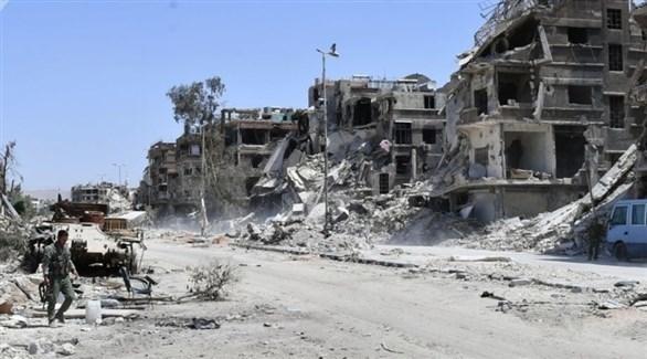 الدمار في مخيم اليرموك (أرشيف)