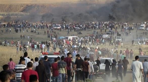 من مسيرة العودة في غزة (المصدر)