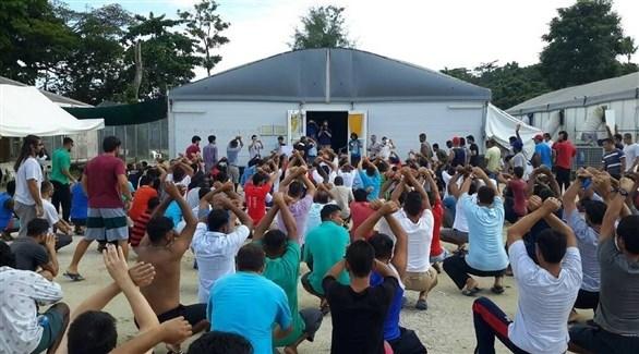 لاجئون في مركز جزيرة مانوس في بابوا غينيا الجديدة (أرشيف)