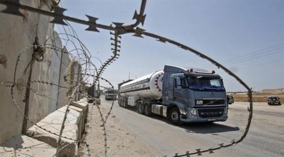 شاحنة وقود في غزة (أرشيف)