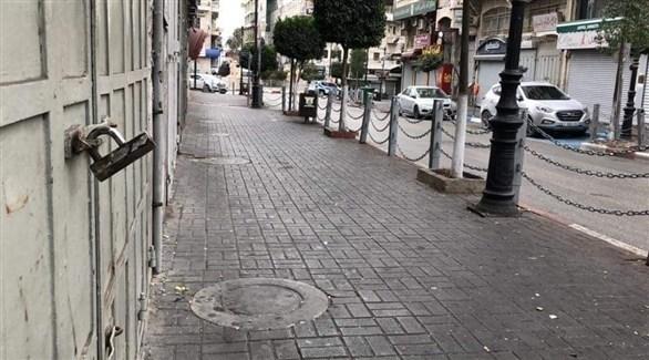 إضراب في فلسطين احتجاجاً على قانون القومية العنصري الإسرائيلي (تويتر)