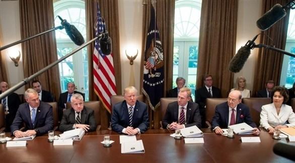 اجتماع لإدارة ترامب في البيت الأبيض (أرشيف)