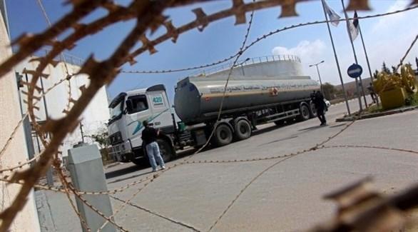 شاحنة نقل الوقود على أحد المعابر مع غزة (أرشيف)