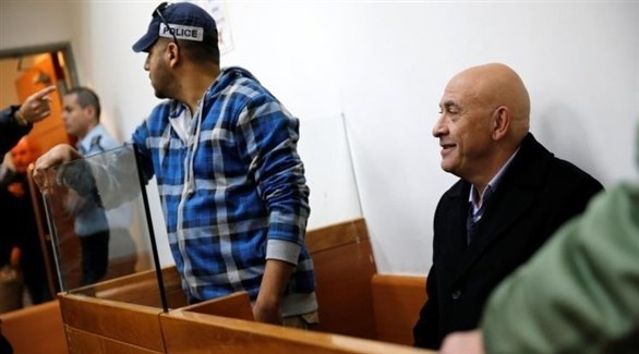 عضو الكنيست السابق باسل غطاس أثناء محاكمته (أرشيف)